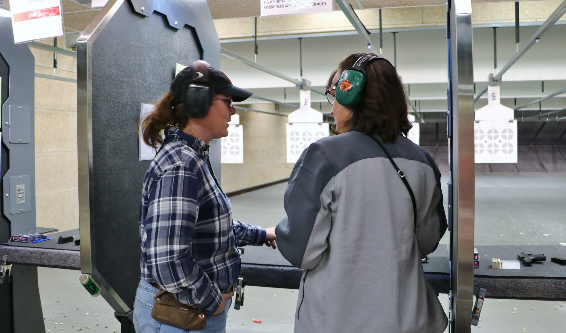 teaching on the firearm range