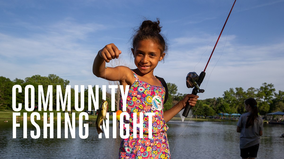 Community fishing night graphic
